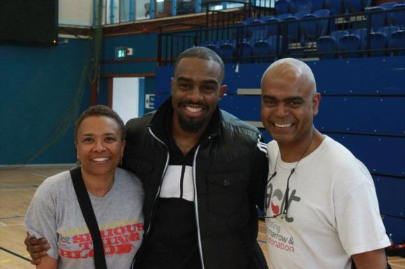 Beverley De Gale, Chucky Venn and Orin Lewis at the ACLT Zumbathon 2012 [Okito Gonzales Photography]