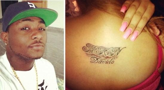Girl-tatoos-Davidos-name-on-her-back