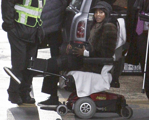 naomi campbell wheelchair